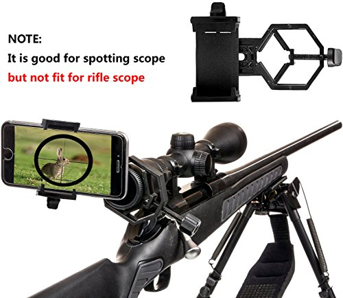 Ulako Universal Adapter Holder for Mobile Phone Spotting Scope Telescope Microscope Binocular Monocular- For Iphone Huawei Samsung Sony
