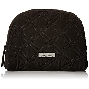 Vera Bradley Medium Zip Cosmetic Bag, Classic Black, One Size