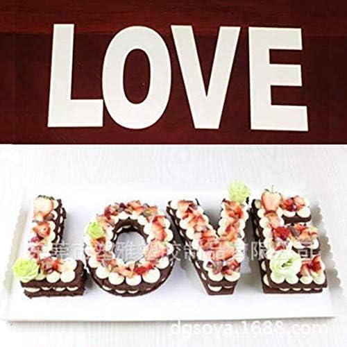 FSHB Love LettersKuchenform Kuchen Dekorieren Tools Geburtstagstorte Design Backformen Gebäck Werkzeuge 4/6/8/10/12 Zoll, 6 Zoll