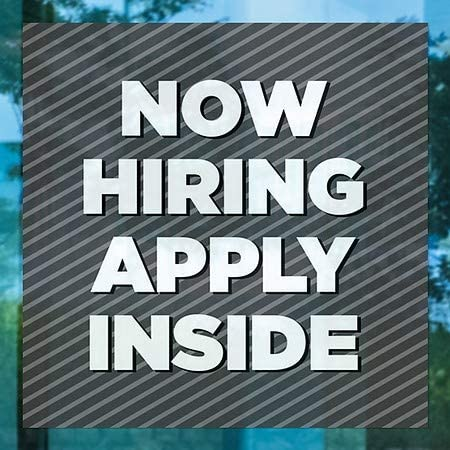 CGSignLab Now Hiring Apply Inside 5-Pack 36x24 Basic Gray Window Cling