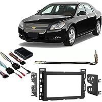 Fits Chevy Malibu 2008-2012 Double DIN Stereo Harness Radio Install Dash Kit