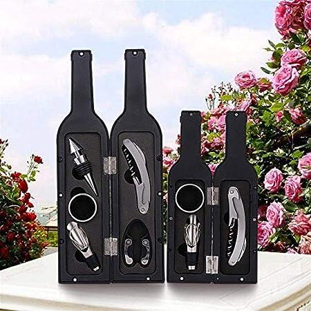 HCFSUK Abridores de Botellas - 1 Juego 3 Piezas / 5 Piezas Juego de sacacorchos para Botellas de Vino Herramienta Soporte en Forma de Botella Abridor de Botellas Venta de Regalo Uso práct