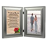 WMG Romantic Gift for Love of My Life, Sentimental Soulmate Poem Pewter 4x6  Double Frame - Add Your Photo