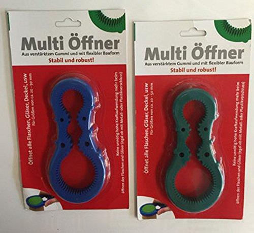 2x Multi Öffner aus verstärktem Gummi mit flexibler Bauform für Deckel von 20-50mm