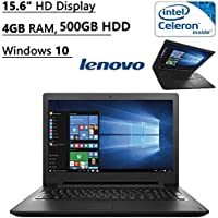 Lenovo Flagship High Performance 15.6 HD Laptop PC | Intel Celeron N3060 Dual-Core| 1.60 GHz| 4GB RAM| 500GB HDD| DVD+/-RW| Bluetooth| WIFI| Ethernet| HDMI| Windows 10 (Black)