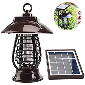 Solar Electronic Mosquito Killer Lamp, Mosquito Killer Light Mosquito Repeller Light Insect Killing Lamp for Gardens…