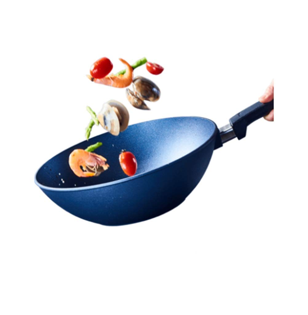 WYQSZ Wok - Non-stick Wok Home Uncoated Pot Multi-functional Durable Wok -fry pan 2365