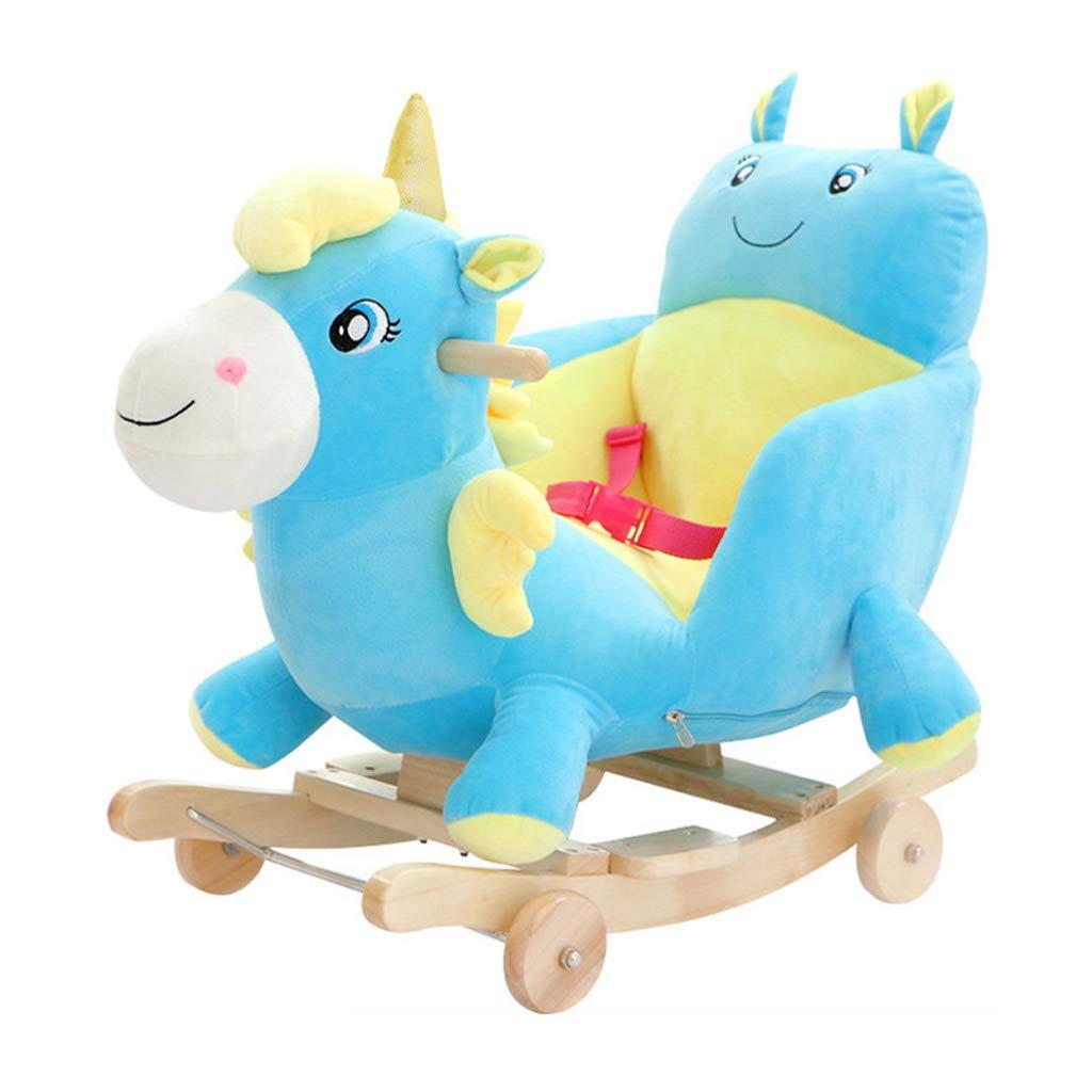 Cavallo a dondolo LINGZHIGAN Sedia a Dondolo per Bambini Musica Legno Giocattolo Troia Baby Car Baby Baby Regalo 60  28  60cm (colore   A)