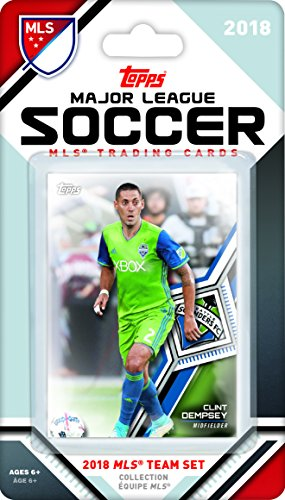 Seattle Sounders 2018 Topps MLS Soccer Factory Sealed 10 Card Team Set with Clint Dempsey and Will Bruin plus