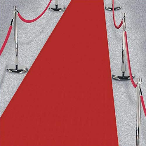 15ft Hollywood Party Red Carpet Scene Setter Fabric Floor Runner Prop - Hollywood Themed Party Decorations Kit Supplies Essentials Accessories Favors Movie Premiere Velvet Backdrop Shoot Awards Gift