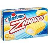 Hostess Zingers Vanilla Cakes 10 Cakes (2 Boxes)