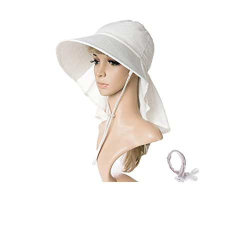 6a4e0aa410d ZML Women UPF 50 Casual Cotton Sun Hat Soft And Breathable Anti-UV Foldable  And