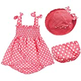 Easykan Summer Baby Girls Pant+hat Outfit Clothes Skirt Dress 24-36 L Pink offers