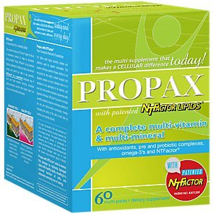 Vitamin and Mineral Propax With NTFactor® - Natural Energy Booster To Combat Chronic Fatigue - Multi-vitamin and Multi-mineral Supplement With Amino Acids, Antioxidants & Fatty Acids - 60 Multi Pack