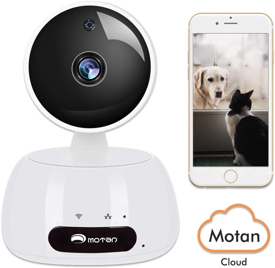 Home Security Camera, WiFi IP Camera,1080P HD Indoor Surveillance Camera Pet Baby Nanny Cam with Phones App, Pan Tilt Zoom Night Vision Motion Detect 2-Way Audio Cloud 2.4Ghz Home Camera with Alexa