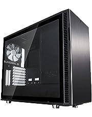 Fractal Design FD-CA-DEF-R6-BK-TG Define R6 Tempered Glass eATX Brushed Aluminium PC Case - Black