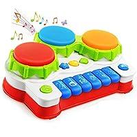 Mioshor Baby Drums Toy Set for 1 Year+,Toddler Keyboard...