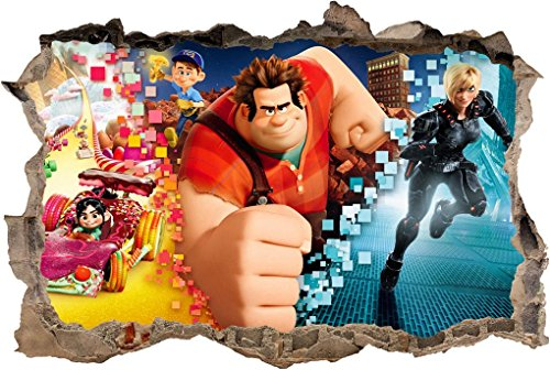 Wreck It Ralph 3D Smashed Wall Sticker Decal Home Decor Art Mural J742, Regular (Ralph Home Decor)