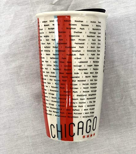 Starbucks Chicago Traveler Tumbler 12oz Local Collection Double Wall Ceramic 2017