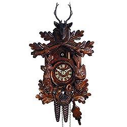 Original Mechanical Cuckoo-Clock 1-Day (Certified) Deer-Head, Hunter/Hunting Pendulum Bird Clocks