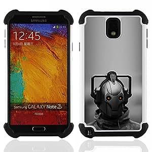 """SAMSUNG Galaxy Note 3 III / N9000 / N9005 - 3 en 1 impreso colorido de Altas Prestaciones PC Funda chaqueta Negro cubierta gel silicona suave (Estrella Guerra Robot"""")"""