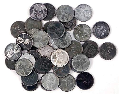 1943 Various Mint Marks Count of 50 Genuine World War II WWII Steel Pennies P, D & S Mint Marks Circulated ()