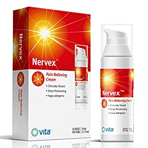NERVEX Neuropathy Pain Relief with Arnica, R-ALA, B1, B5, B6, Capsaicin, MSM. Soothe & Regenerate. Reduce Burning, Tingling, Numbnes. Soothing Aloe and Coconut Oil Base
