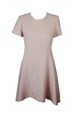 87931bb0c5 DKNY Blush Short-Sleeve Crepe Fit   Flare Dress at Amazon Women s ...