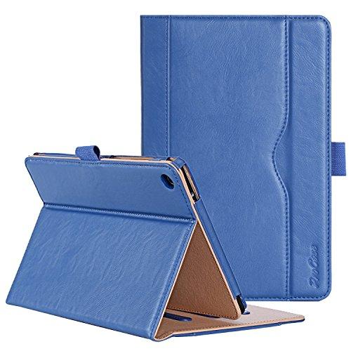 ProCase ASUS ZenPad S 8.0 Z580C Case (2015 ZenPad Z580C,Z580CA) with Bonus Stylus Pen - Stand Cover Folio Case for ASUS ZenPad S 8.0 Z580C, Multiple Viewing Angles, Document Card Pocket (Navy Blue)