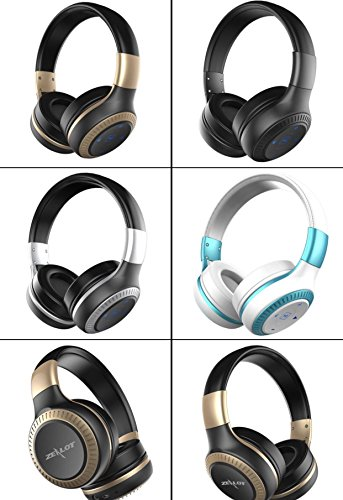 ZEALOT B20 Bluetooth 4.1 On-the-ear Headphones, Wireless / Wired, Supra-Aural Earmuff Headset with Mic for iPhone Samsung Android Tablet (Silver)
