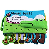 GreatestPAK Soft Fabric Activity Crinkle Cloth Books, Handmade Puzzle Shape Matching Learning Educational Toys for Baby, Interactive Toddler Shower Gifts (B)