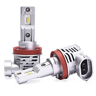 MICTUNING Wireless LED Headlights H11 Bulb Conversion Kit Extremely Bright 6000K White: Automotive
