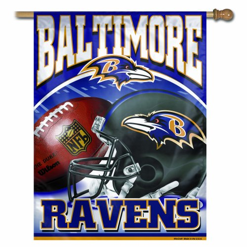 NFL Baltimore Ravens 27-by-37-Inch Vertical Flag