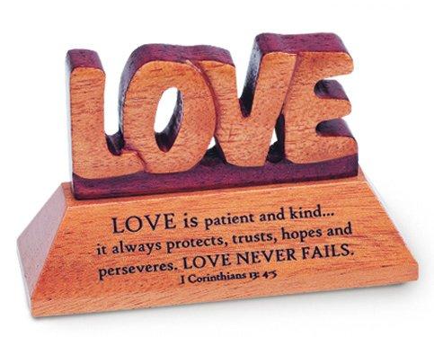 N 1942LV STAND.PLAQUE-MAHOGANY - LOVE ()