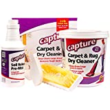 Capture Carpet Dry Cleaning Kit 250 - Resolve Allergens Stain Smell Moisture from Rug Furniture Clothes and Fabric, Mold Pet Stains Odor Smoke and Allergies Too