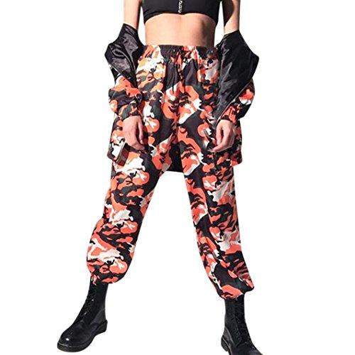 Pantalon Imprim 0 SANFASHION Orange Trousers Jeans Jogging Camouflage2 Haute Taille Casual Femme Camouflage Sports Cool Tendance ZZxqrBS