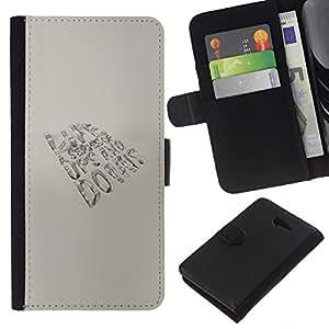 YiPhone /// Tirón de la caja Cartera de cuero con ranuras para tarjetas - Altibajos VIDA - Sony Xperia M2