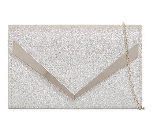 Pochette Hautefordiva femme Silver petit Silver pour gPvdwqf