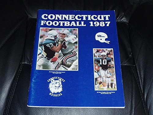 (1987 UCONN CONNECTICUT COLLEGE FOOTBALL MEDIA GUIDE EX-MINT BOX 35)