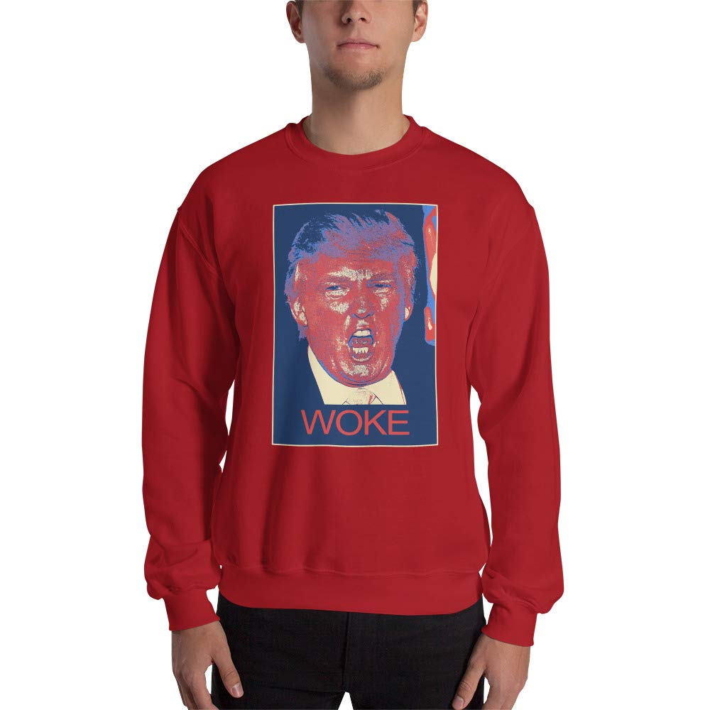 Donald Trump Woke Sweatshirt Red
