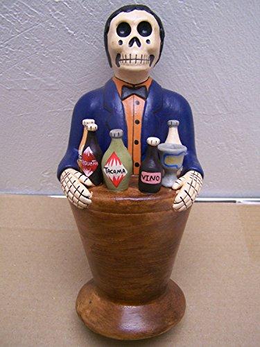 Day of the Dead Skeleton Bartender Sculpture -