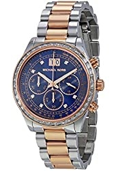 Michael Kors MK6205 Women's Brinkley Chrono 2 Stainless Steel Navy Dial, Navy Blue, Standard