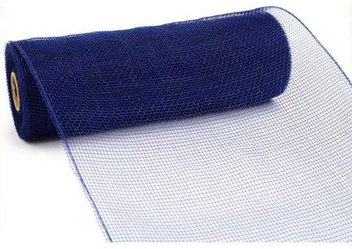 10 inch x 30 Feet Deco Poly Mesh Ribbon - Navy Blue Non Metallic : RE130219 (Ribbon Blue Metallic)