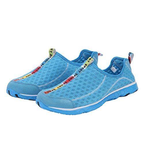 Chaussures Deau Adituo Pour Femme - Parfait Pour Les Sports Nautiques Aquatiques - Séchage Rapide En Maille - Léger, Confortable Et Respirant Bleu