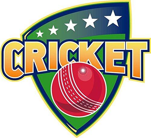 - Zirni Cricket Sport Ball Badge Sticker Decal Design 5
