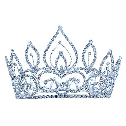 """Price comparison product image Bridal Pageant Contest Vintage Style 4.5"""" Tiara Full Circle Round Crown T1693"""