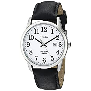 Timex Men's Easy Reader Leather Strap 38mm Watch