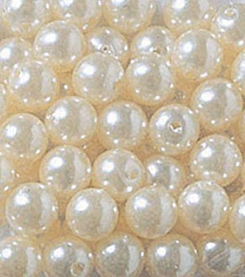 Lynmmax 14mm Pearls 2-Lbs loose beads vase filler Ivory