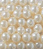 Max 3 Pound Assorted Size Loose Pearls Table Decor Vase Filler, 10 mm,14 mm,18 mm Ivory 1 lb each