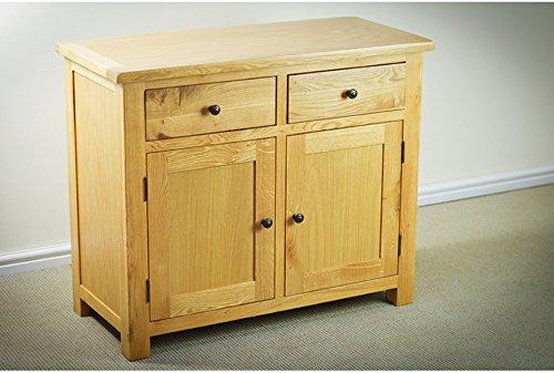 miami oak two door sideboard solid oak frame and legs amazoncouk kitchen home camberley oak 2 door